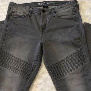 Gray stretch skinny jeans Mossimo 12R 31